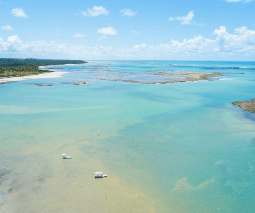 Vista aérea da Praia de Japaratinga