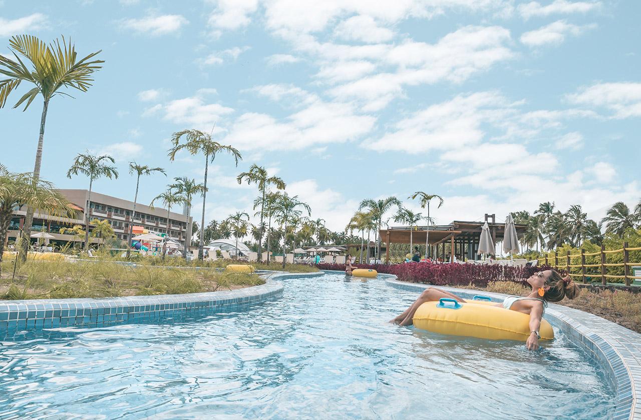 Piscina de correnteza do Japaratinga Lounge Resort